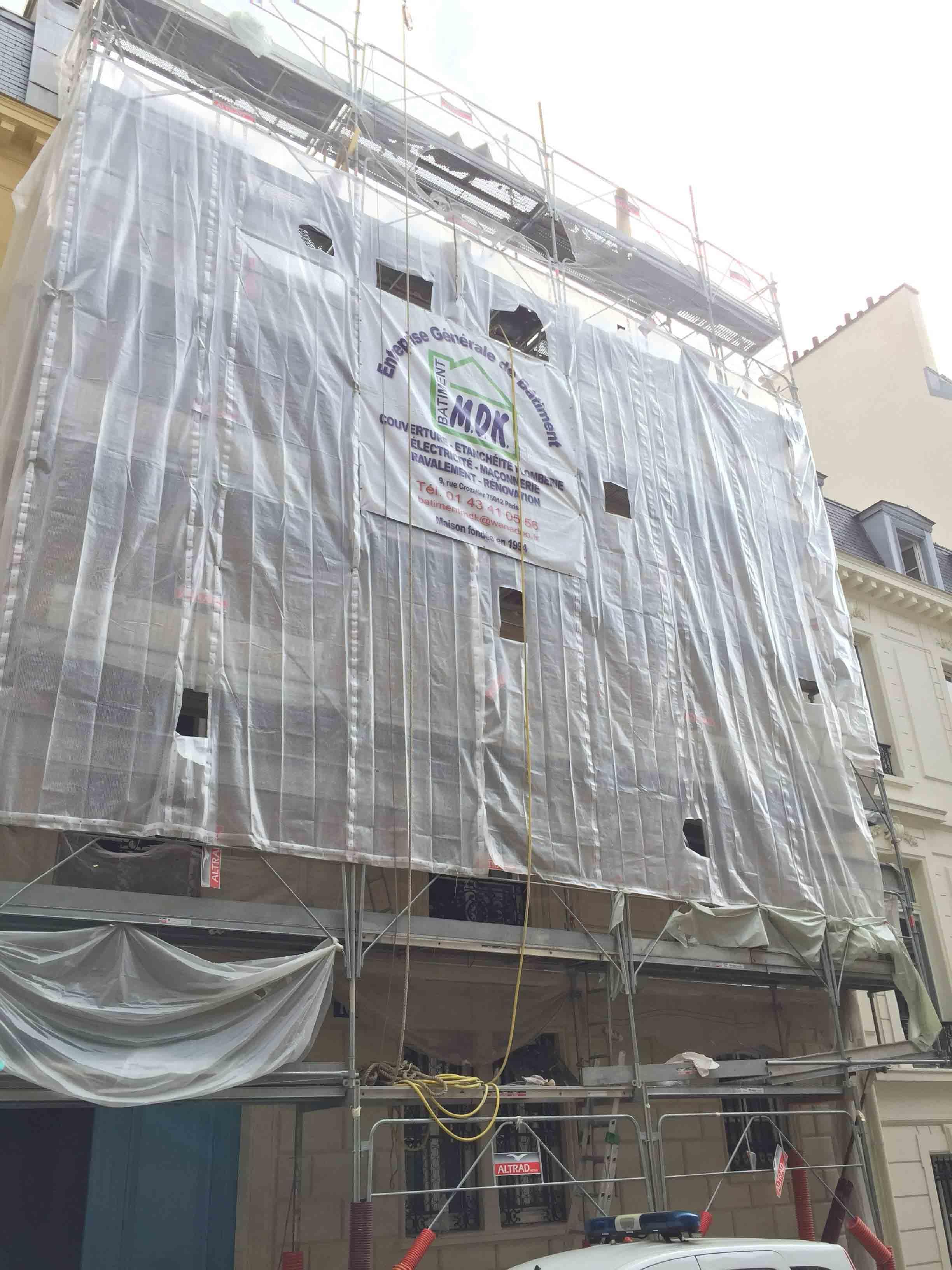 Ravalement de façade Bâtiment MDK